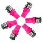 Pink 5 LED T10 5050 SMD 194 168 W5W XENON Wedge Bulb Car Dashboard Dash Lights