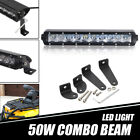 """10/11"""" 50W LED Work Light Bar Combo For Polaris General 1000 Front Lower Bumper"""