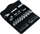 Wera 29 Piece 3/8in Zyklop Metal-Push Ratchet & Metric Socket Set 004047