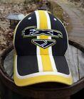 FXR Racing Race Hat Black Yellow Striped Flexfit Headwear One Size