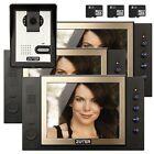 "ZOTER 8"" LCD House Video Doorbell Phone Recording Intercom Entry Kit 3x Monitor"