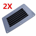 2Pcs Boat Stainless Steel Air Vent Louver Grill Cover Ventilation Louver Grille
