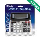 Calculators, 12 Digit Desktop Office Calculator Dual Power (12pc Case)