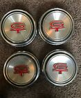 4 FORD MUSTANG GT Centers HUBCAPS WHEEL COVERS CENTER CAPS VINTAGE