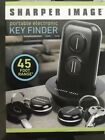NEW SHARPER IMAGE Portable Electric Key Finder 45 Foot Range Two Fobs