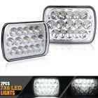 "2PCS 7X6"" Inch LED Cree Light Bulbs Crystal Clear Sealed Beam Headlight Headlamp"