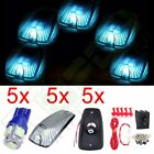 5 Smoke Cab Marker Roof Lamps Cover+Free Bulb+Switch Kit For 1988-2000 Chevy GMC