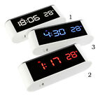 Mirror Surface Electronic LED Alarm Clock Desk Thermometer With Backlight