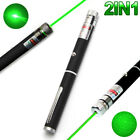 2IN1 High Power 10mW 532nm Green Beam Laser Pointer Lazer Projector Pen DJ Stage