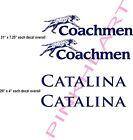2- Coachmen Decals 2- CATALINA RV sticker graphics trailer camper rv coachman