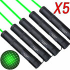5PCS 10Miles Green Laser Pointer Lazer Pen Visible Beam Strong Light Pointers US