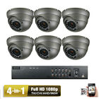 8CH HDTVI DVR 1080P (6) 4-in-1 AHD 2.6MP OSD IR678 36IR Security Camera System