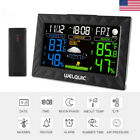 Color LCD Wireless Weather Station Hygrometer Thermometer Clock Outdoor Sensor