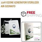 220V Ozone Generator Sterilizer Air Ozonator ionizer O3 Timer Air Purifiers NEW