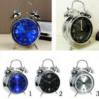 4-inch Silent Bedside Clock Double Twin Bell Alarm Clock with Nigth Light