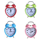 Heart Shape Table Desk Silent Sweep Bell Alarm Clock, Ideal for Home Office
