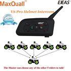 Motorcycle Bluetooth Helmet Communication Interphone Intercom Headset V6 1200m