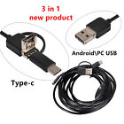 10M HD 3 In1 Android USB Type C Endoscope Inspection 8mm Camera 6 LED Waterproof