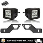B-Pillar Mount Bracket + Led Cube Pods Kit For 14-17 Polaris RZR XP1000 2 Seater