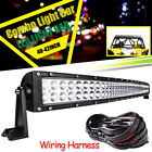 "For YAMAHA 16-UP YXZ1000R Top Upper Roof 42"" Curved LED Light Bar w/ Free Wires"
