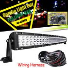 For Can-Am Maverick 1000R COMMANDER 240W Curved LED Light Bar Roof Mounting 42''