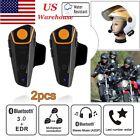 2x BT-S2 Bluetooth Motorcycle Interphone Headset Motorbike Helmet Intercom 1000m