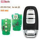 3 Button Smart Remote Key Keyless Entry 868MHz for Audi A4L Q5 8T0 959 754C