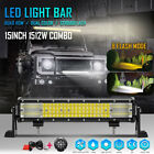 8Mode 15inch 1512W LED Light Bar Quad row Combo SUV 4WD Driving Lamp + Remote 16