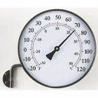 Acu-Rite 6 in. Brass Finish Thermometer with Wall Bracket