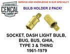 VW BUG BUS GHIA TYPE 3 THING AIR  DASH LIGHT BULB SOCKETS QTY 2 111957397