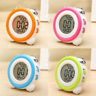 3D LED Alarm Clock Mute Temperature Humidity Electronic Double Bell Desk Clock