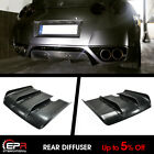 For Nissan Skyline GTR R35 LB Style FRP Rear Bumper Diffuser Under Lip Parts