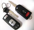 2 MAZDA OEM REMOTE KEYLESS ENTRY KEY FOB CAR FLIP KEYS FCC: WAZSKE13D01