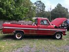 1972 Ford F-100 XLT F100 1972 Ford Long Bed Project Red