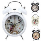 Novelty Retro Twin Bell Countryside Style Analog Alarm Clock Home Decoration