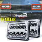 2X 45W 4X6 Rectangle CREE LED Headlight High Low Beam Sealed Replacement Lamp