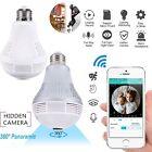 Mini Wireless Camera 360° Panoramic Smart Security Wifi 1080/1536P HD Light Bulb