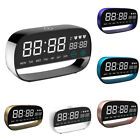 LED Digital Touch Night Light Date Temperature Desktop Table Alarm Clock Spirit