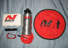 Group of Minelab Items: Water Bottle, Flashlight, First Aid Kit, Carabiner, etc.