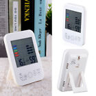 Digital LCD Hygrometer Thermometer Touch Screen Monitor Desk Clock Calendar NEW