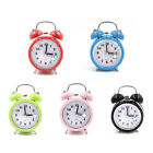 Silent Metal Quartz Movement Analog Bedside LED Light Sweep Alarm Clock Braw