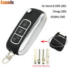 Upgraded Remote Key Fob 433MHz ID40 for Opel Vectra B 1995-2002 / Omega 2003