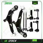 Suspension 8Pcs Tie Rod Control Arm&Ball Joint Sway Bar For 02-04 Infiniti i35