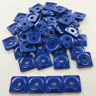 Woodys Square Snowmobile Stud Digger Support Plate 48pk Blue ASW2-3795-48