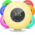 6 Color Alarm Clock Digital LED Switch FM Radio Bedrooms Snooze Button New
