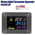 Multi-functional Wireless Digital Thermometer Hygrometer Colorful LCD Weather Fo