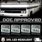 4X DOT LED Headlight Bulb Sealed High/Low DRL Beam For Gulf Stream Motorhome RV
