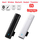 Smart Instant Voice Translator Pocket Bluetooth Real Time Translation 26Language