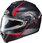 IS-MAX 2 Mine Snow Helmet with Frameless Electric Shield MC-1SF - Flat Black/Red