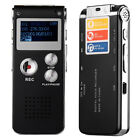 Rechargeable 8GB Digital Audio Voice Recorder Dictaphone Telephone MP3 Player US